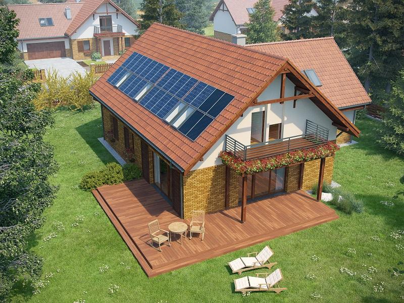 Projekt domu SWOJSKI Domy Czystej Energii widok od ogrodu