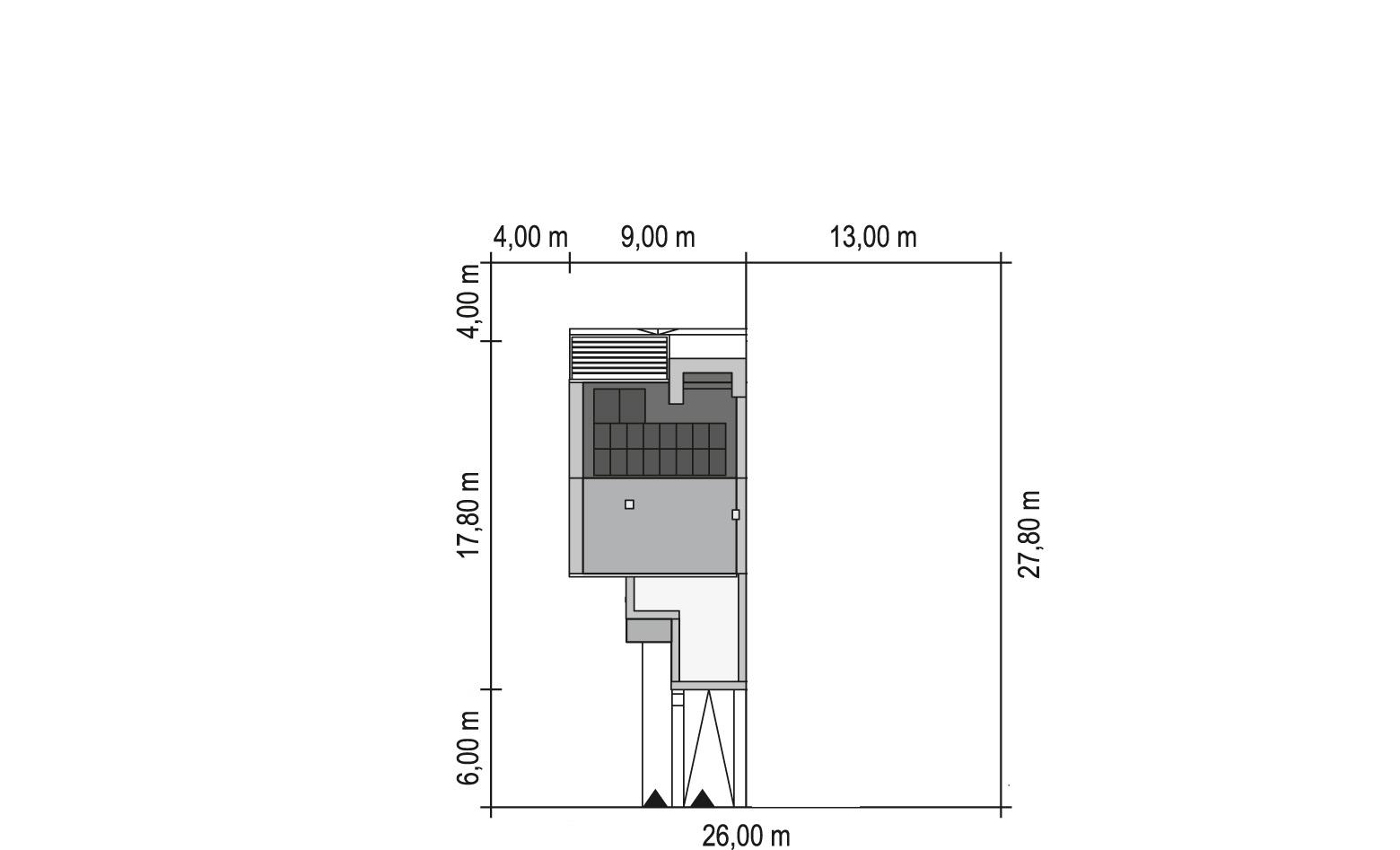 Projekt domu TWIN MODERN A Domy Czystej Energii rzut działki