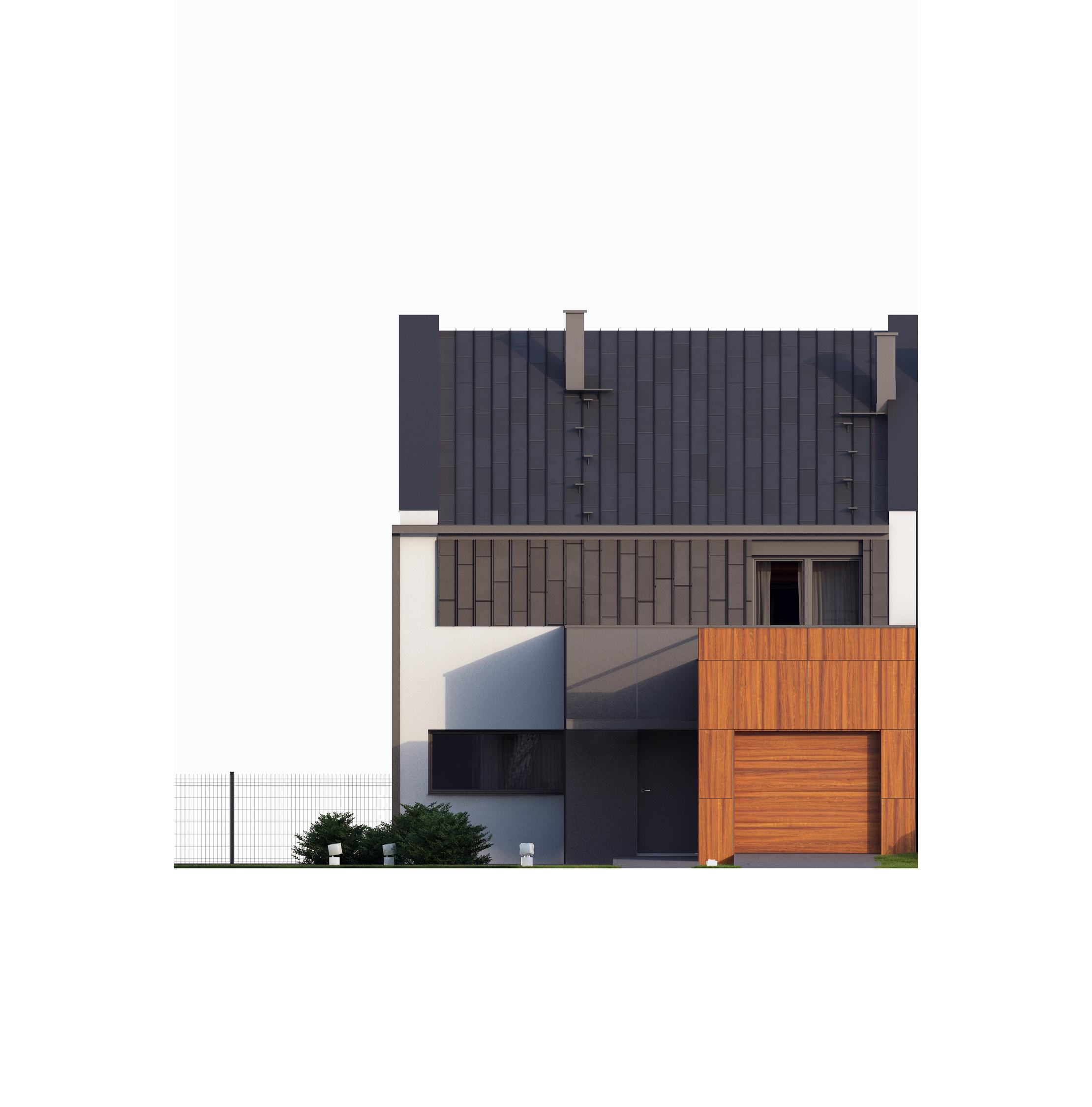 Projekt domu TWIN MODERN A Domy Czystej Energii elewacja frontowa
