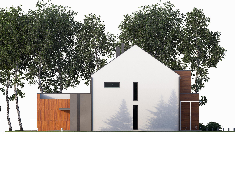 Projekt domu TWIN MODERN A Domy Czystej Energii elewacja boczna